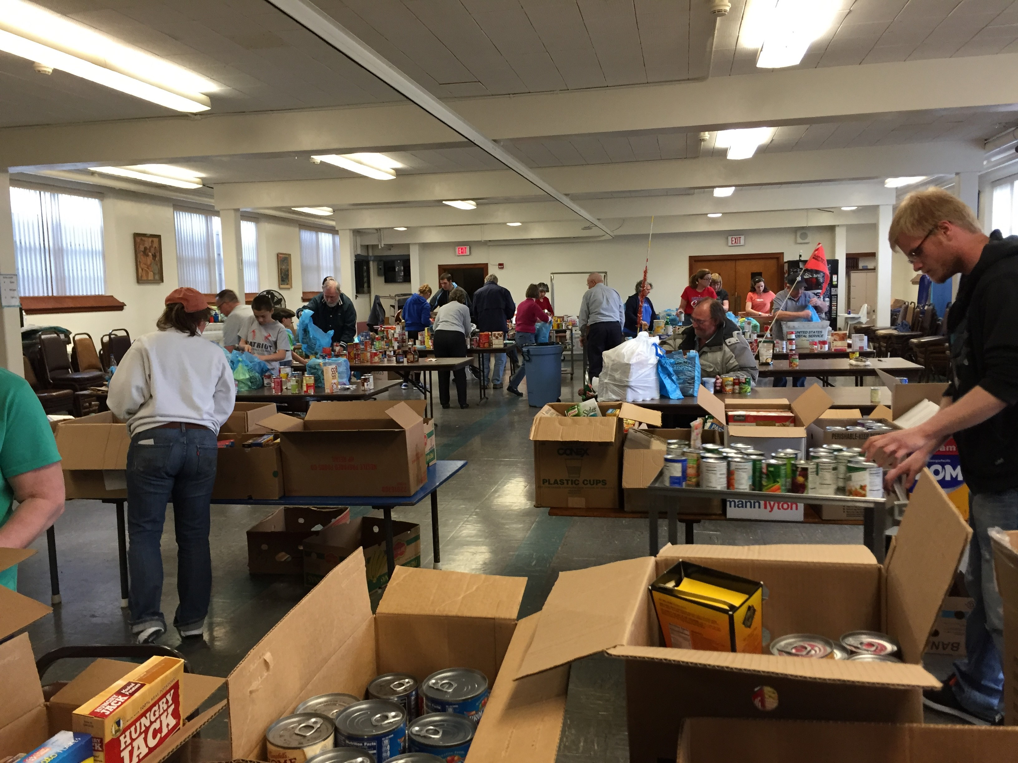 food pantry sorting donations